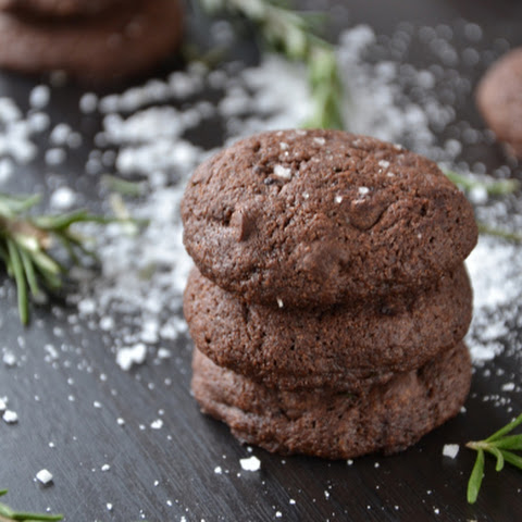 Salted Rosemary Chocolate Cookies