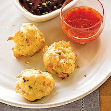 Shrimp Toast Puffs with Two Sauces