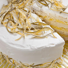 White Cake with Lemon-Lime Curd Filling and Whipped Cream Frosting Recipe