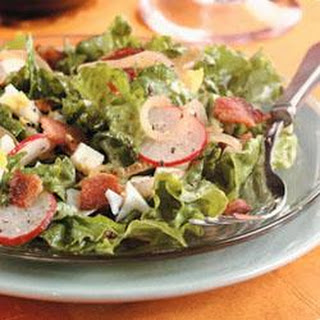 Lettuce with Hot Bacon Dressing