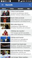 Screenshot of Mackolik Canlı Sonuçlar