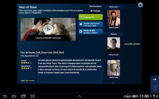 Screenshot of B.tv tablette