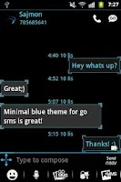 Screenshot of GO SMS Pro Theme Ice Minimal
