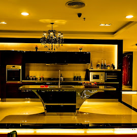 Dream Kitchen by Sanjeev Goyal - Artistic Objects Business Objects ( dish, fridge, washer, sink, tap )
