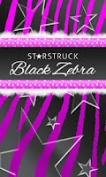 Screenshot of Purple Black Zebra Star Theme