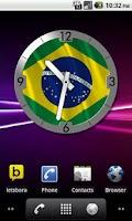 Screenshot of Brazil Flag Analog Clock Lite