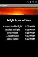 Screenshot of Daylight Twilight Sunrise Free