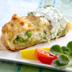 RWOP Finalist: Salmon Wrapped in Pastry with Cucumber Sauce