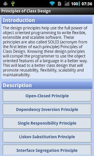 Principles of Class Design