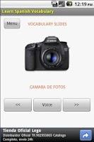 Screenshot of Learn Spanish vocabulary  LITE