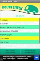 Screenshot of Chennai Bus Route Check - MTC