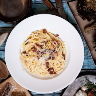 Lemon Thyme Linguine alla Carbonara