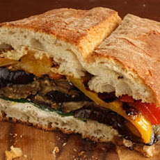 Pressed Eggplant and Pepper Sandwich Recipe