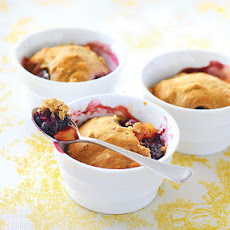Peach & Blackberry Cobbler
