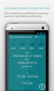 Seattle Baseball Schedule Pro - screenshot