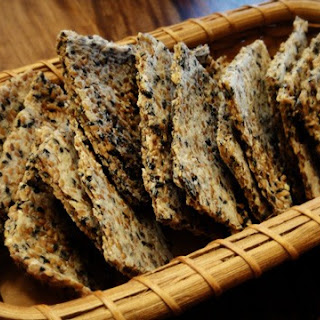 Sesame Onion Almond Flax Crackers