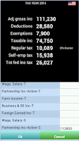 Screenshot of TaxMode: income tax calculator