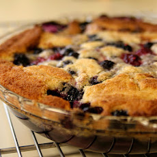 Three-Berry Cobbler