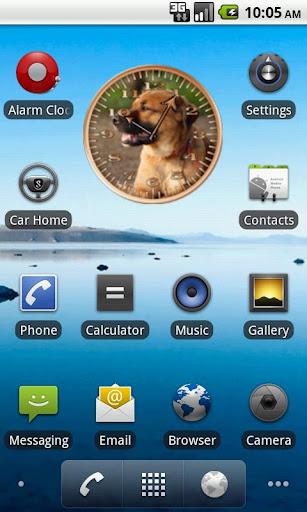 Dog 2 Sunshine Analog Clock