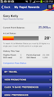 Screenshot of Southwest Airlines