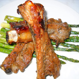 Garlic Herbed Spareribs and Baked Asparagus