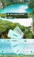Screenshot of Beautiful Lakes GO Keyboard