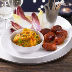 Sweet Potato Dip With Chorizo & Chicory Dippers