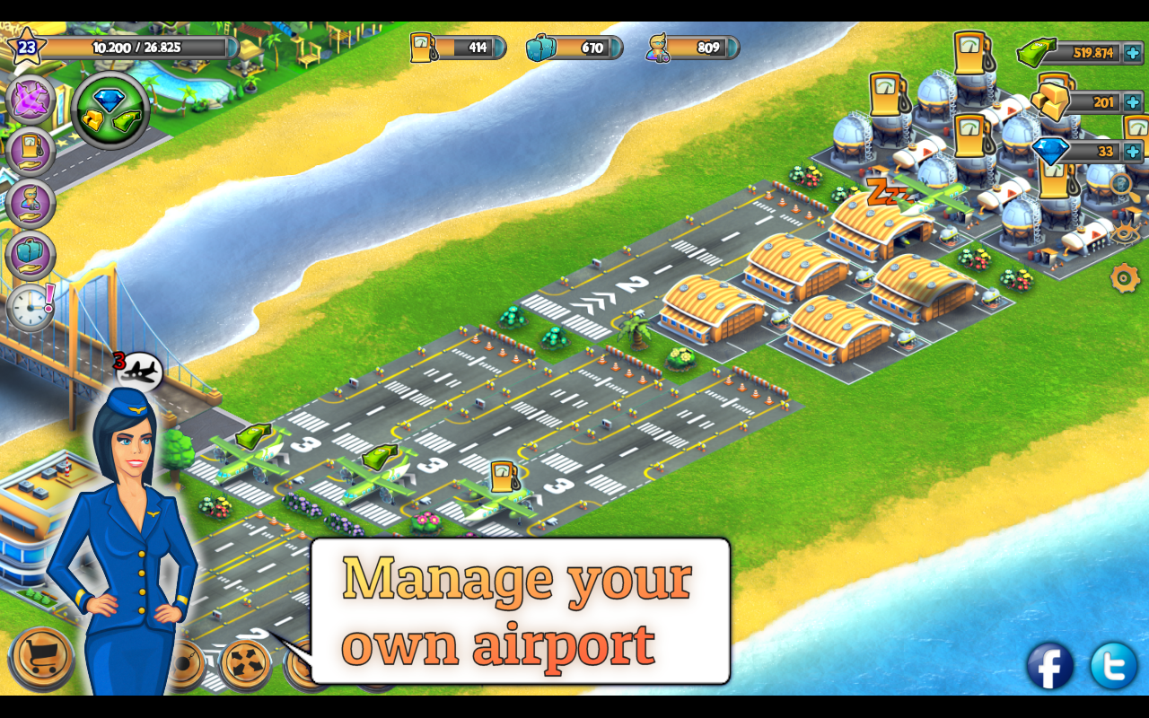 City Island: Airport Asia Screenshot 1
