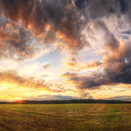 Hungarian skies pt.72. by Zsolt Zsigmond - Landscapes Cloud Formations ( clouds, sky, colors, sunset, wide, panorama )