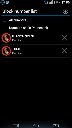 Block Outgoing Calls - screenshot