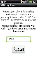 Screenshot of USSD Stop Dialer