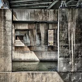 Bridge shadow by Richard Tilton - Abstract Patterns ( abstract, shadow, montana, bridge, light )
