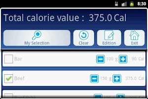 Screenshot of My Weight Loss Manager