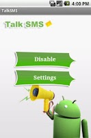 Screenshot of Talk SMS for v1.5 & v1.6