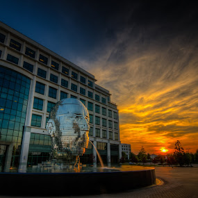 Metalmorphosis by Randell Whitworth - Buildings & Architecture Statues & Monuments ( water, structure, hdr, nc, set, charlotte, sun )