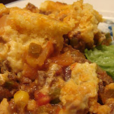 Fiesta Pie With Chipotle Cornbread Topping