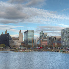 Liverpool by Simon Sweetman - City,  Street & Park  Skylines ( skyline, liverpool, beatles, city )