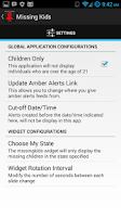 Screenshot of Missing Kids Android