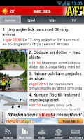 Screenshot of Aftonbladet Supernytt