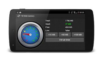 Screenshot of Fill RAM Memory Ad free