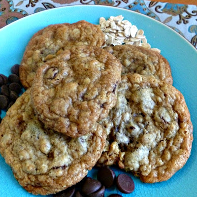 Double Chocolate Toffee Chip Cookies with Oatmeal