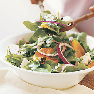 Arugula and Mint Salad with Oil-Cured Black Olives, Oranges, and Ricotta Salata