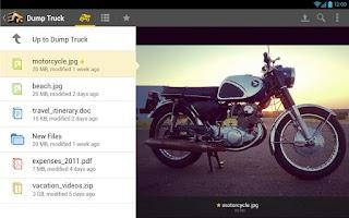Screenshot of Dump Truck Online Storage