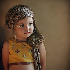 Kali by Danica Sherry - Babies & Children Child Portraits ( natural light, warm light, girl, children, child portrait, sari )