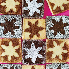 Snowflake-Stenciled Shortbread Cookies