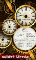 Screenshot of FREE Gold Clock Live Wallpaper