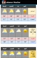Screenshot of Lebanon Weather