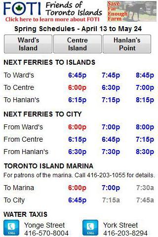 Toronto Island Info