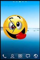 Screenshot of Smiley Alarm Clock Widget