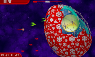 Screenshot of Chicken Invaders 4 Xmas HD